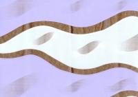 Цветочная плёнка - Рулон 0.7 Пламя - сиренево белый