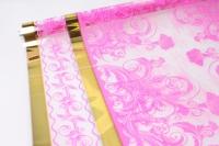 Цветочная пленка рулон 0,7 Президент (240гр) ярко-розовый