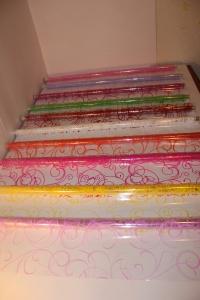 серпантин 0.7 цветочная плёнка - рулон 0.7 серпантин - белый 13731