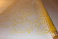 серпантин 0.7 цветочная плёнка - рулон 0.7 серпантин - желтый 13734