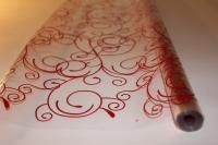 Цветочная плёнка - Рулон 0.7 Серпантин - Красный