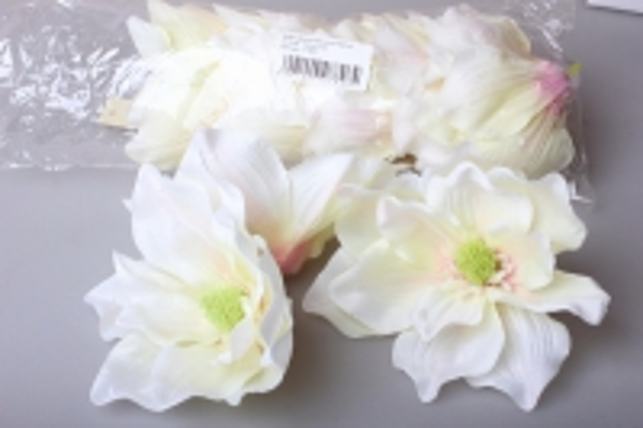 Цветок Магнолии белый d=10см (12шт в упаковке) 8964