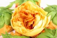 цветок пиона большой в упаковке 6шт, d=15см - желто/розовый kwla288he 6173