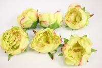цветок пиона большой в упаковке 6шт, d=15см - салатовый kwla288z 6227