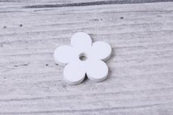 цветы 2см белые из дерева (50шт в уп)  yf161690 s/50  1585