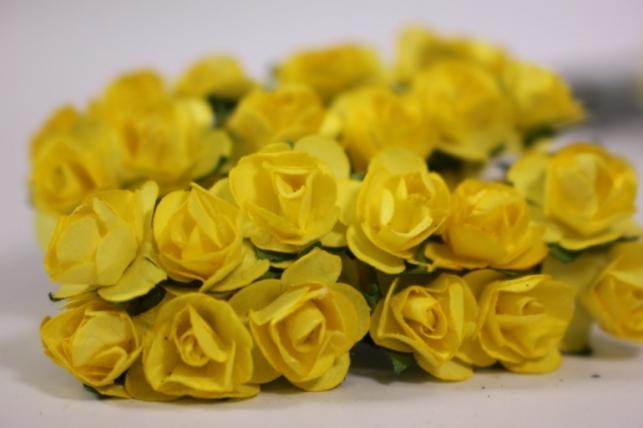 цветы бумажные 1см желтые (144шт в уп) ht16a001