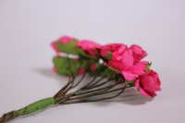 цветы бумажные 1см малина (144шт в уп) ht16a001