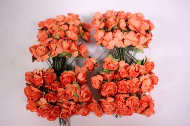 Цветы бумажные 1см Оранжевые (144шт в уп) HT16A001