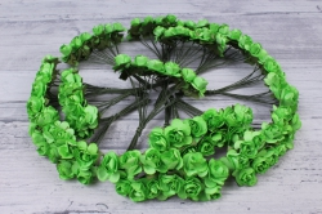 Цветы бумажные 1см Салатовые (144шт в уп) HT16A001