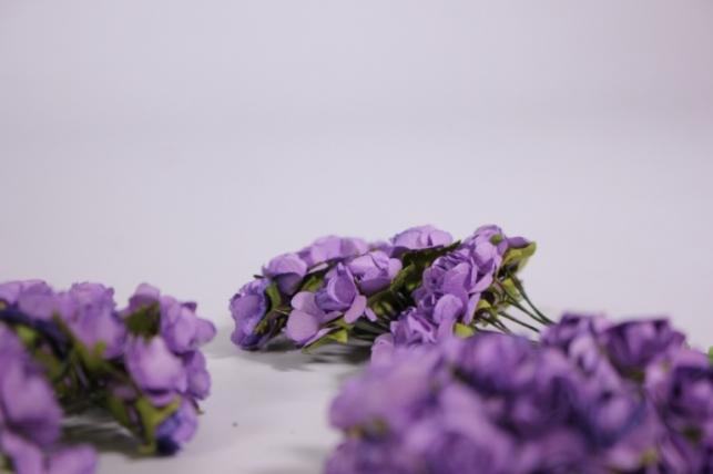 цветы бумажные 1см сирень(144шт в уп) ht16a001