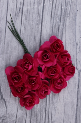 цветы бумажные 2 см фуксия (144шт в уп) ht2017а086