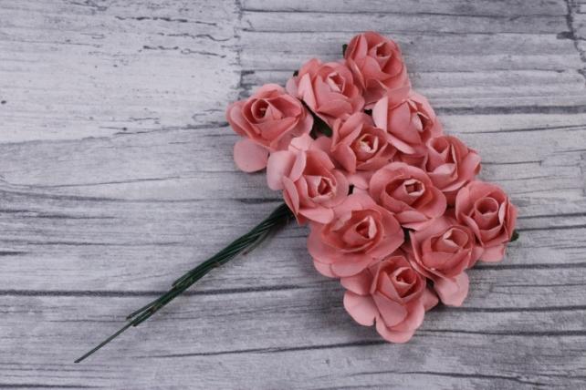 цветы бумажные 2 см персик (144шт в уп) ht2017а085