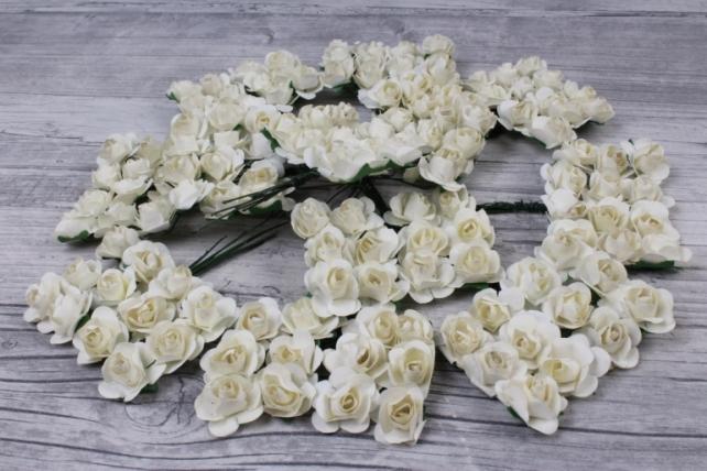 цветы бумажные 2 см шампань (144шт в уп) ht2017а095