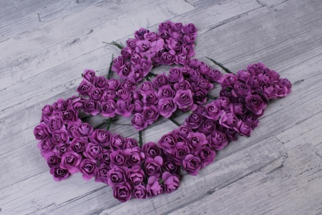 цветы бумажные 2 см сиреневые (144шт в уп) ht2017а088