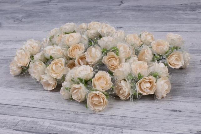 Цветы бумажные айвори (72 шт в уп) CF10-L419