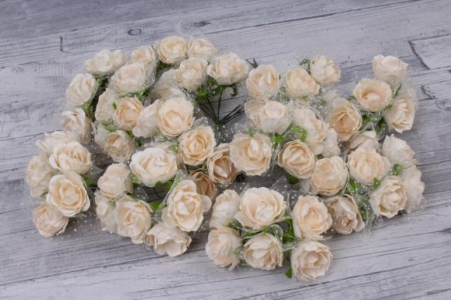 цветы бумажные 3 см айвори (144 шт в уп) cf10-l419