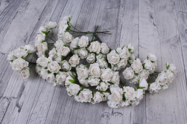 Цветы бумажные  белые (72 шт в уп) CF13-L1338