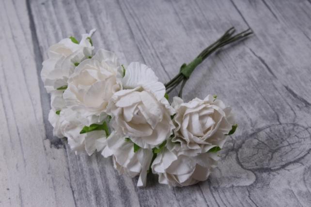 цветы бумажные 3 см белые (144 шт в уп) cf13-l1338