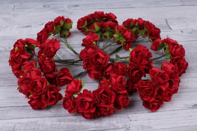Цветы бумажные красные (72 шт в уп) CF13-L1338