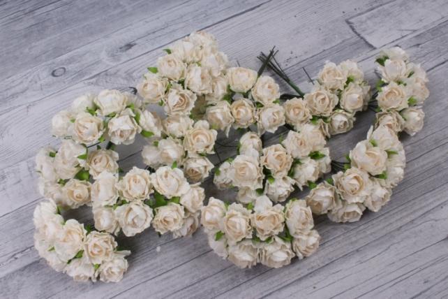 Цветы бумажные  кремовые (72 шт в уп) CF13-L1338
