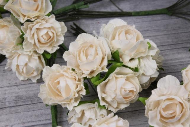 цветы бумажные 3 см кремовые (144 шт в уп) cf13-l1338