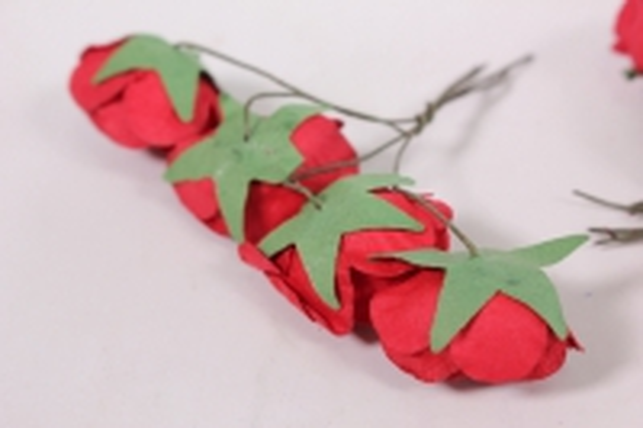 цветы бумажные 3см красные (20шт в уп) cf10-l452 17677-2