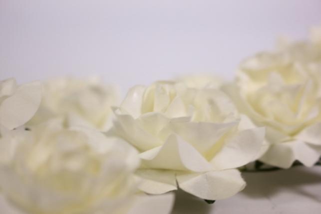 цветы бумажные 5см шампань (12шт в уп) 5557  xx12-2115