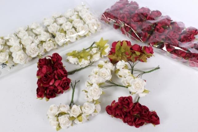 цветы бумажные 8*12шт (96шт в уп)  микс 0959