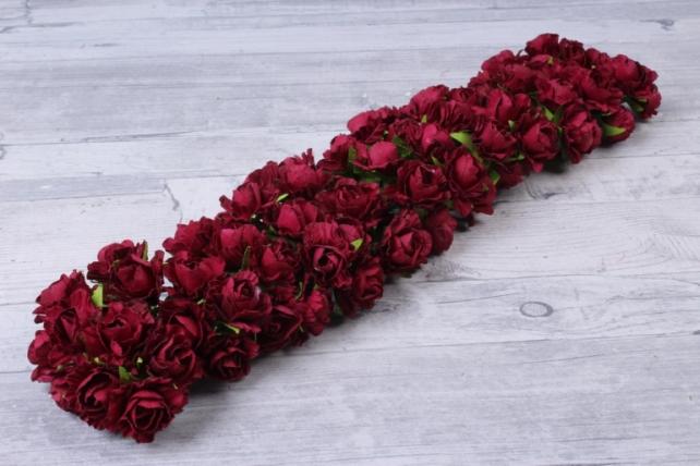 Цветы бумажные бордо (72 шт в уп) CF13-L1338