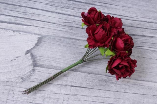 цветы бумажные бордо (144 шт в уп) cf13-l1338