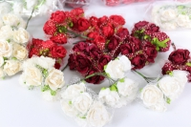 Цветы бумажные h=8 (144шт в уп)  микс 4708