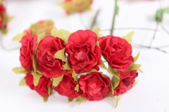 Цветы бумажные Красные h=8 (144шт в уп)  CF13-L1320