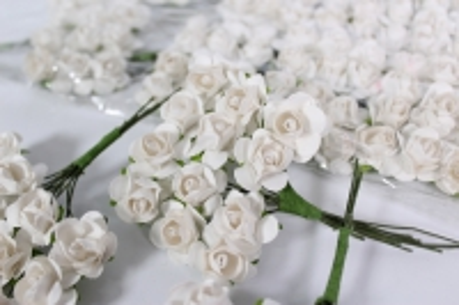 Цветы бумажные Кремовые h=10 (144шт в уп) 7820