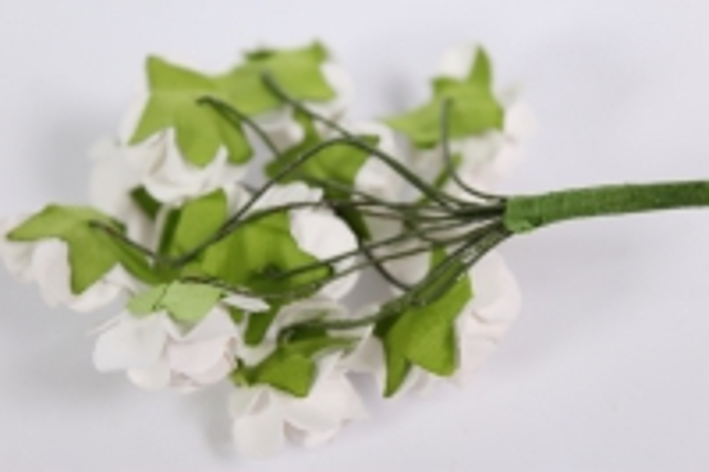 цветы бумажные кремовые (144шт в уп) 7820