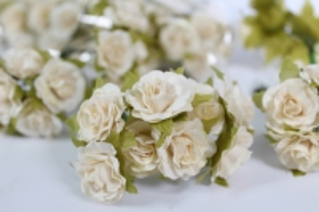 цветы бумажные кремовые (144шт в уп)  cf13-l1320