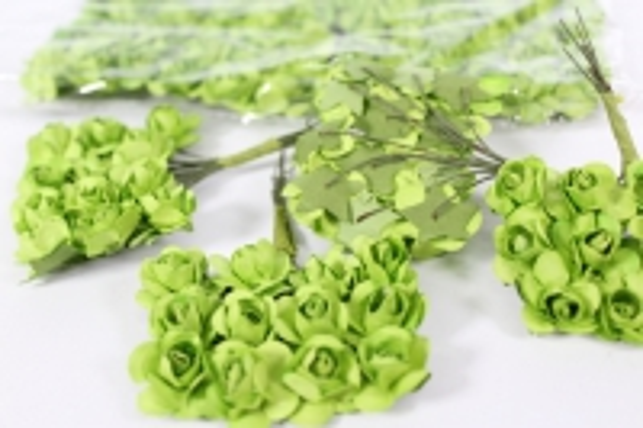 Цветы бумажные Салатовые h=10 (144шт в уп) - Код 7851
