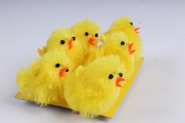 Цыплята 4см ( 6 шт в уп)