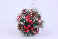 декорация новогодняя шар d=18cм  gbn7j0101  0746