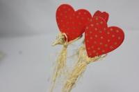 Декоративная 9102 Вставка Сердце в золотой горох (1 шт.)