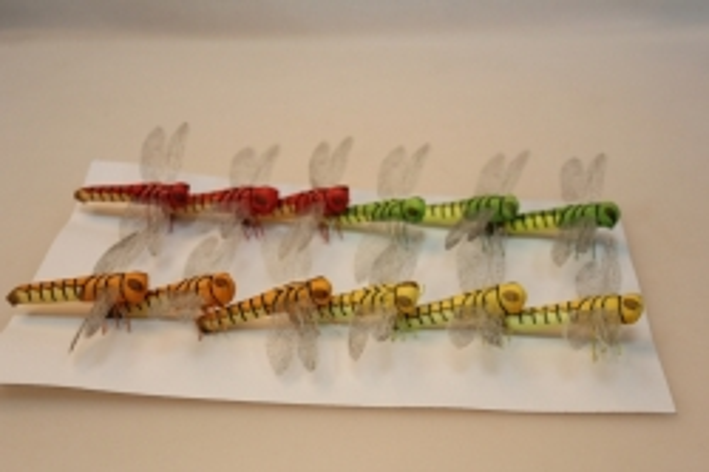 Декоративная искусственная флористическая -  1164 Стрекоза большая (12шт)