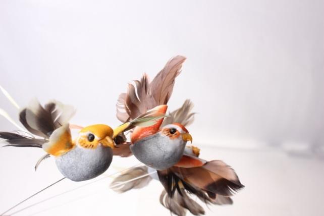 Декоративная искусственная флористическая - 5264 Птичка Коллибри на стикере (12шт в уп)