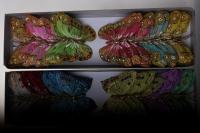 бабочки, шмели, пчёлы декоративная искусственная флористическая - бабочка на стикере 10 см   (24 шт.) 1030