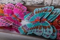 Декоративная искусственная флористическая - Бабочка на стикере 12 см  (24 шт.)
