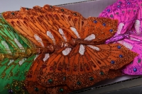 бабочки, шмели, пчёлы декоративная искусственная флористическая - бабочка на стикере 12 см  (24 шт.) 1298