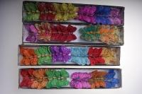 Декоративная искусственная флористическая - Бабочка на стикере  4,5см (24 шт. в уп.)