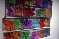бабочки, шмели, пчёлы декоративная искусственная флористическая - бабочка на стикере  4,5см (24 шт. в уп.) 1028