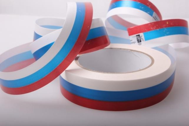 лента простая декоративная лента 3х50м простая российский флаг P3051