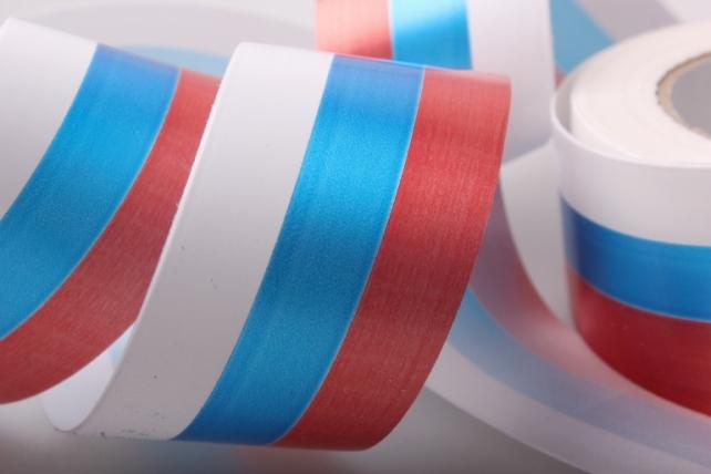 лента простая декоративная лента 5х50м простая российский флаг p512 P512