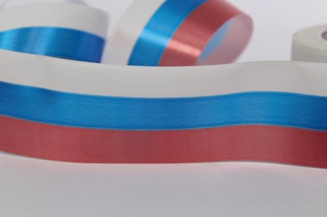 Декоративная Лента 5х50м простая Российский флаг P512