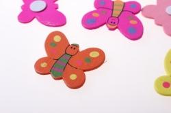 липучки декоративная липучка флористическая - 1205 наклейка бабочка (24шт. в уп.) 2581